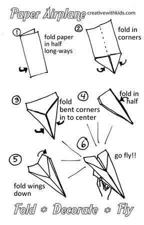 instructions for a good paper airplane which is not hard