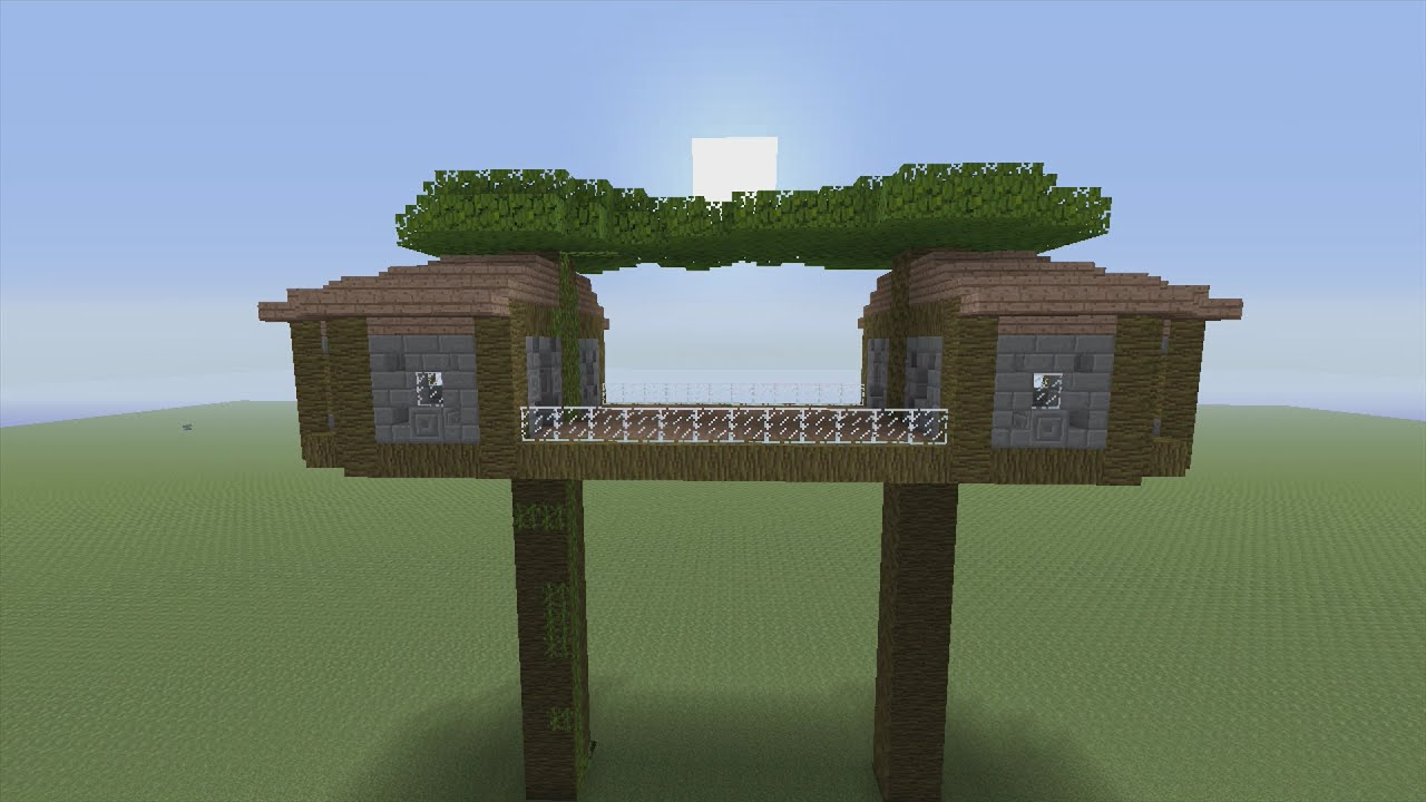 Minecraft how to build jungle treehouse