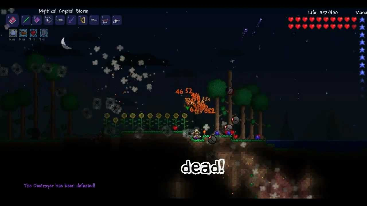 Terraria how to find crystal hearts easy