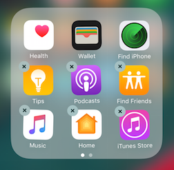 Iphone 8plus how to delete apps