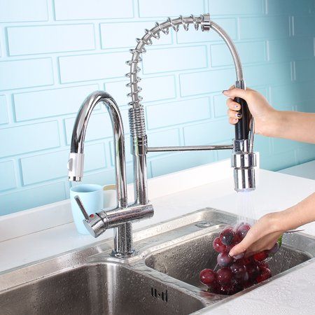 swivel spout pull out spray mixer tap instructions
