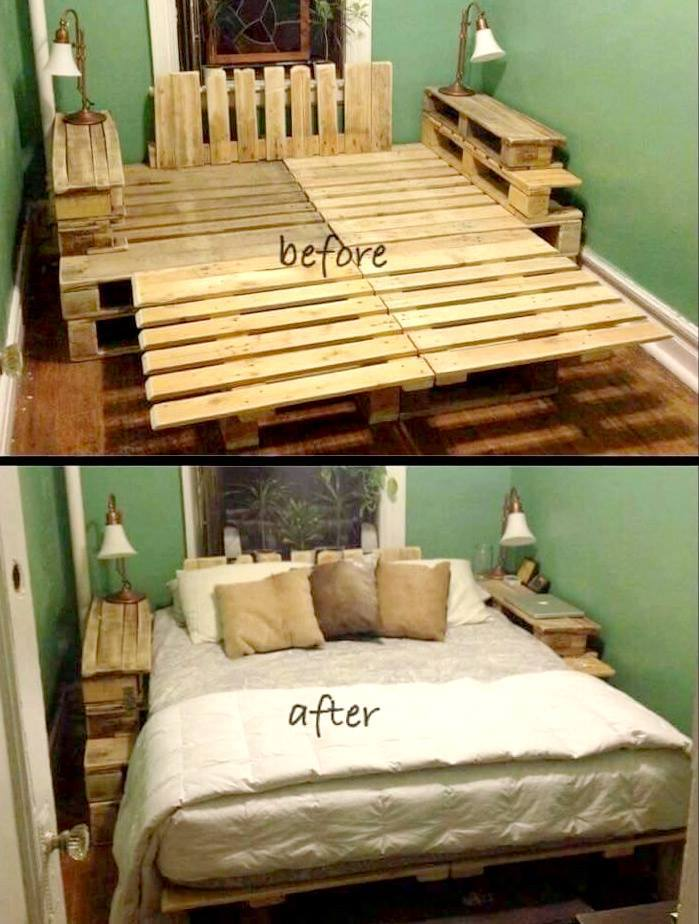 queen size pallet bed instructions