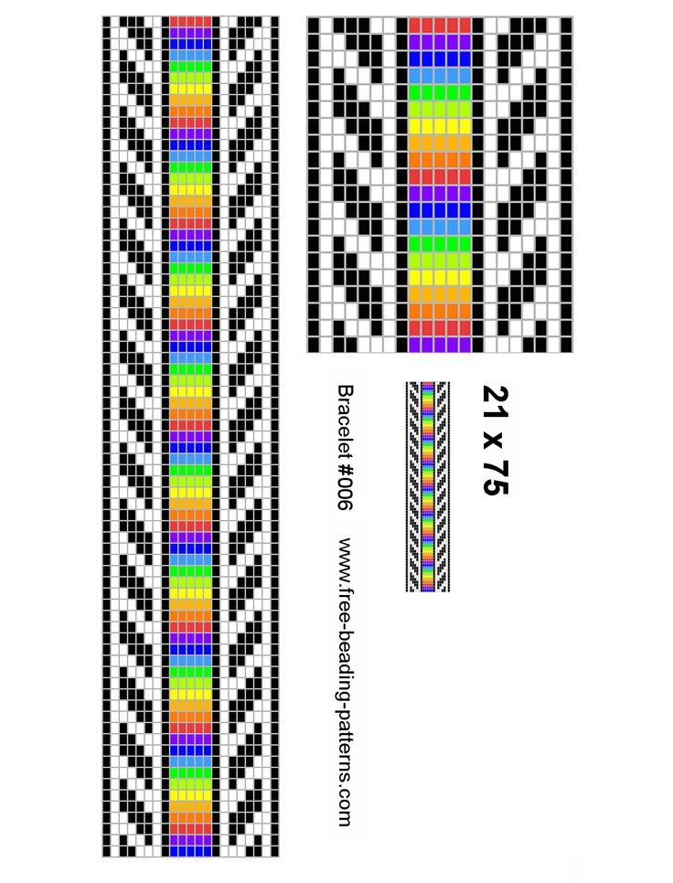 Bead loom bracelet patterns and how to make