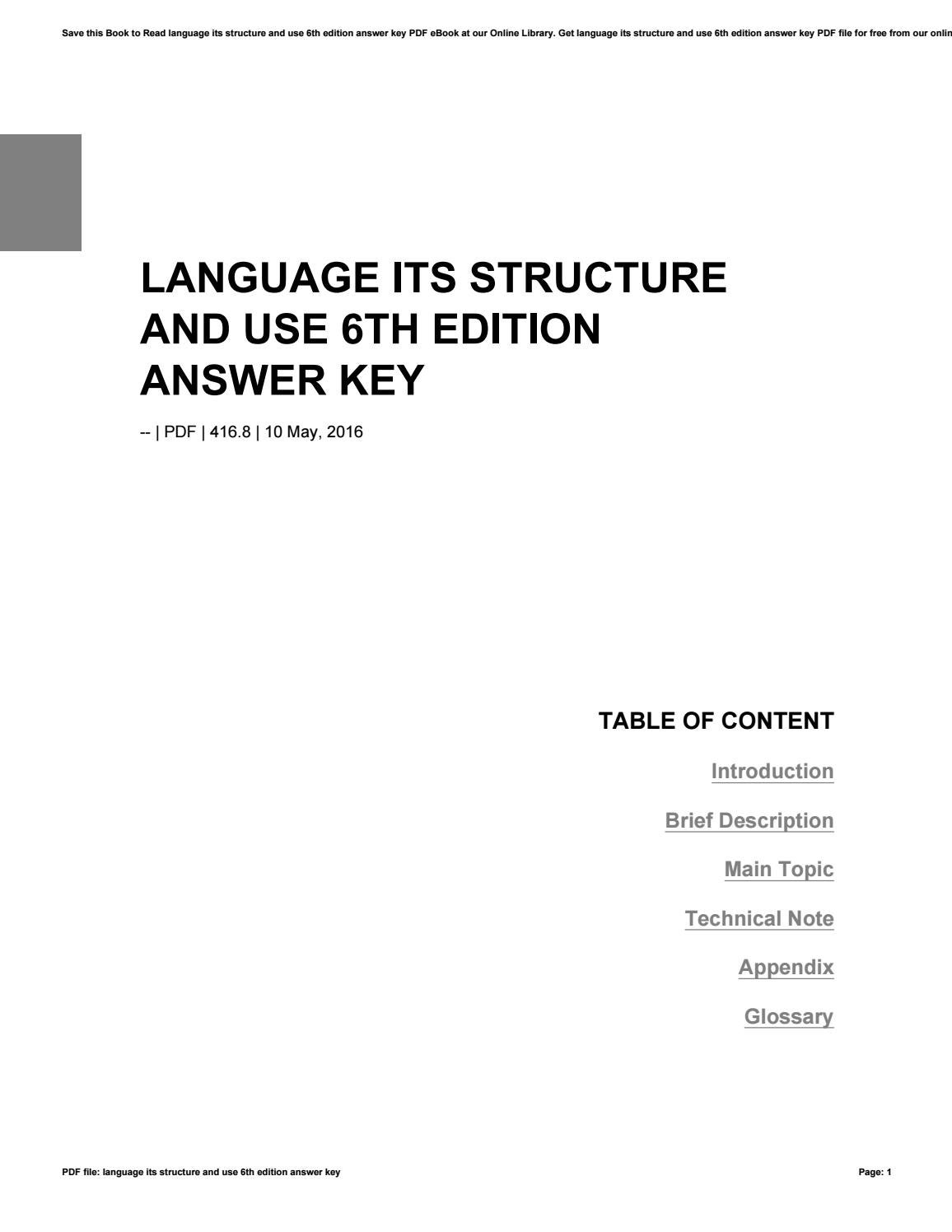 Language its structure and use 7th edition pdf